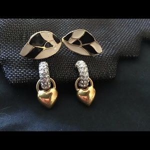 Vintage Monet and other earrings